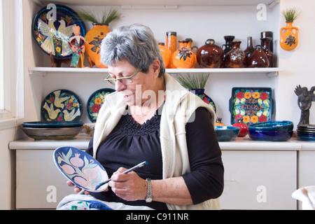 Ceramic art in Ein Hod village in northern Israel - Stock Photo