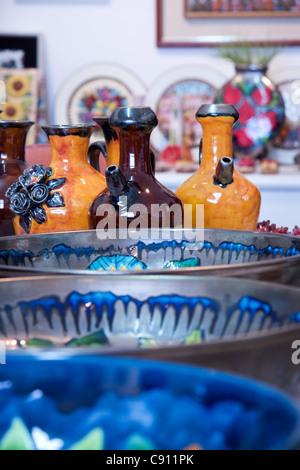 Ceramic art in Daliyat el-Karmel, a Druze village in Israel - Stock Photo