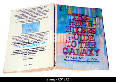 The Hitch Hikers Guide to the Galaxy by Douglas Adams - Stock Photo