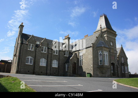 The Anderson Educational Institute in Lerwick was founded by Arthur Anderson who founded the P & O Ferry and shipping - Stock Photo
