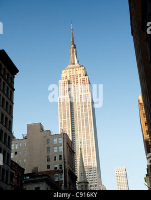 One of New York's most famous landmarks the Empire State Building is the tallest in the city and is located on 5th Avenue and