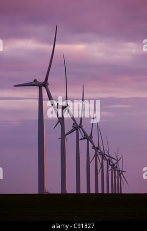 Wind turbines Fleurieu Peninsula South Australia - Stock Photo