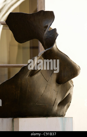 Luci di Nara' bronze sculpture by Igor Mitoraj in the courtyard of the Collegium Luridicum in Krakow. - Stock Photo