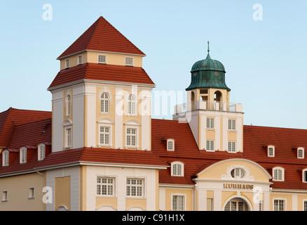 Spa hotel at Baltic resort Binz, Ruegen, Mecklenburg-Western Pomerania, Germany, Europe - Stock Photo