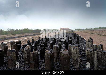 Buchenwald concentration camp near Weimar, Thuringia, Germany, Europe - Stock Photo