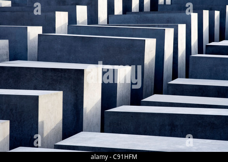 Holocaust memorial, monument to the murdered Jews of Europe, designed by Peter Eisenman, Berlin, Germany, Europe - Stock Photo
