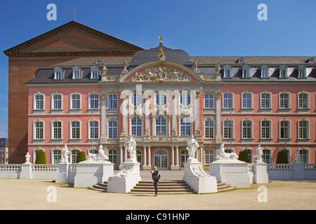 Electoral Palace (Kurfuerstliches Palais), Trier on Mosel, Rhineland-Palatinate, Germany, Europe - Stock Photo