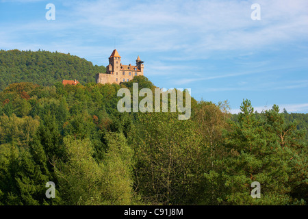 Castle of Berwartstein near Erlenbach, Palatinate Forest, Rhineland-Palatinate, Germany, Europe - Stock Photo