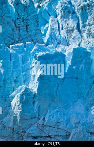 Close up of Margerie Glacier in Tarr Inlet, Glacier Bay National Park & Preserve, Southeast Alaska, Summer - Stock Photo