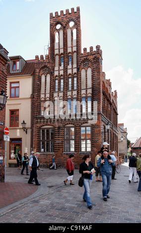 Archidiakonat, hanseatic city Wismar, Mecklenburg-Western Pomerania, Germany - Stock Photo