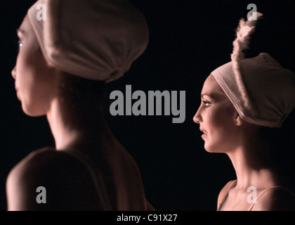 "Looking at the stage from backstage during ""Cinderella"" (Alicia Alonso's ballet company, Gran Teatro de La Habana). - Stock Photo"