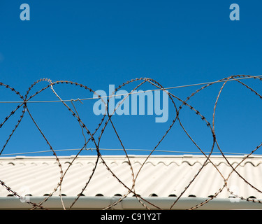 Robben Island off of the coast of Cape Town South Africa was previously a prison where political and general prisoners - Stock Photo