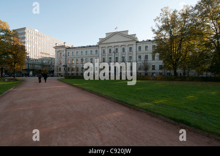 The Main Courthouse in Vilnius, Lithuania, formerly headquarters of the KGB. - Stock Photo