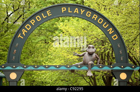The Tadpole Playground is a public play area on Boston Common. - Stock Photo