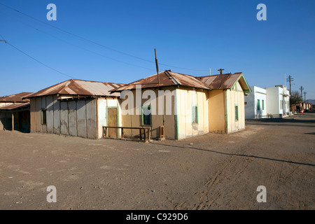 Chile, Humberstone, houses in nitrate ghost town - Stock Photo