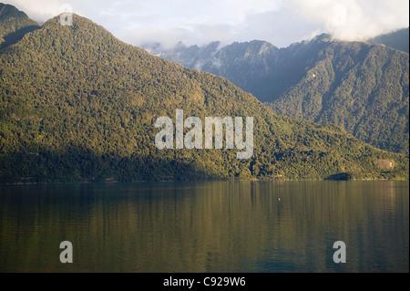Chile, Patagonia, Los Lagos Region, mountains around Hornopiren - Stock Photo