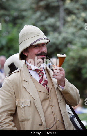 The quirky annual Chap Olympiad, held on a Summer weekend in Bedford Square Gardens in Bloomsbury, London, England - Stock Photo