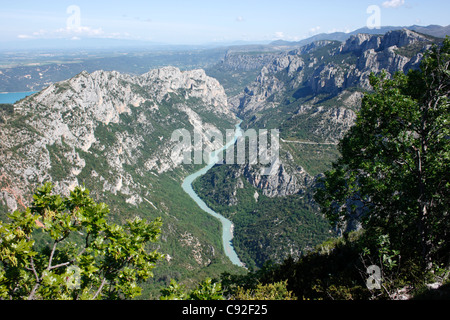 The Verdon Gorge is a beautiful river canyon which is a popular tourist destination. - Stock Photo