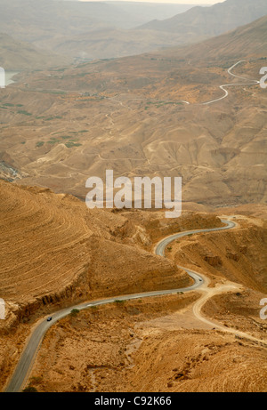Part of the Kings Highway that runs through Wadi Mujib escarpment, Jordan.