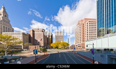 Downtown Hartford Connecticut - Stock Photo