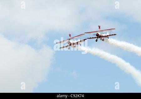 AeroSuperBatics Ltd based at RFC Rendcomb Aerodrome doing a flying display at Royal International Air Tattoo RAF - Stock Photo