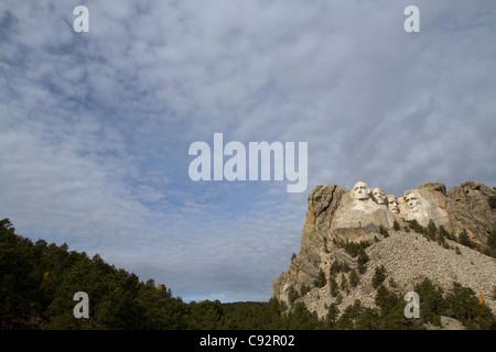 Presidents at Mount Rushmore National Monument, near Keystone, South Dakota, USA - Stock Photo