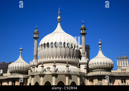 The Royal Pavilion is an Indo-Saracenic former palace complex at the heart of the city. - Stock Photo