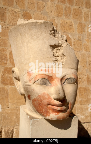 The Valley of the Queens is home to many statues in the image of Queen Hatshepsut and her mortuary temple the Dier - Stock Photo