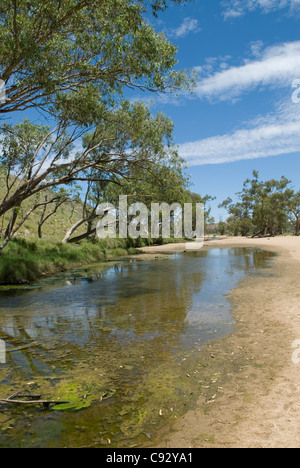 Simpson's Gap is a natural gap in the West MacDonnell Ranges of mountains. - Stock Photo