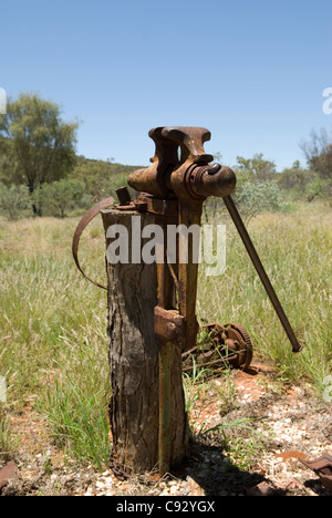 Arltunga was officially central Australia's first town born out of a gold rush which is now a historical reserve - Stock Photo