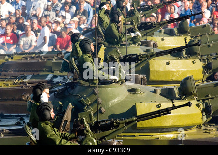 Tanks during a military parade (Dec. 2006). Havana, Cuba - Stock Photo