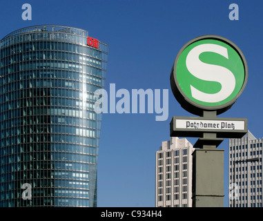 The Potsdamer Platz in Berlin with the Sony Center in the foreground. Germany. - Stock Photo