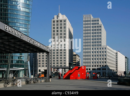 The Potsdamer Platz is an important public square and traffic intersection in the centre of Berlin. - Stock Photo