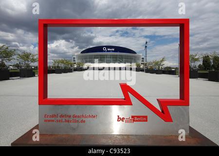 O2 World is a multi-use indoor arena, in Friedrichshain, Berlin. - Stock Photo