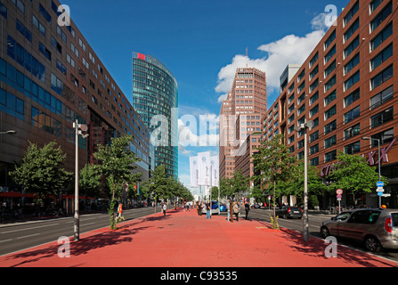 The Potsdamer Platz became Berlins new centre after the fall of the Berlin Wall in 1989. - Stock Photo