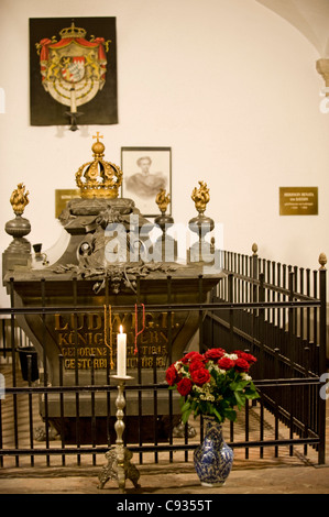 Germany, Bavaria, Munich.  The crypt of Michaelskirche contains the tomb of Mad King Ludwig II - Stock Photo