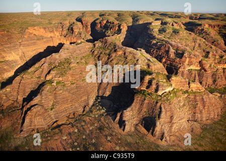 Cliffs and gorges of Bungle Bungle Range, Purnululu National Park, Kimberley Region, Western Australia, Australia - Stock Photo