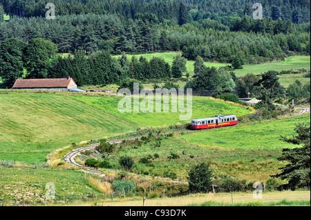 Historic train: les Voies Ferrées du Velay, France. - Stock Photo