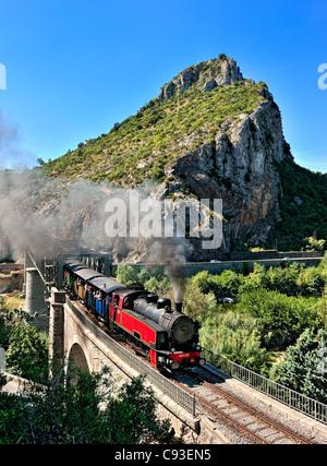 Historic train: Train des Cevennes, France. - Stock Photo