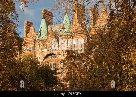 Hotel Russell, Russell Square, Bloomsbury, Camden, London, England, UK - Stock Photo