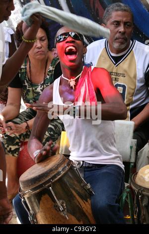 Weekly rumba festival at Callejon de Hamel in Havana, Cuba. - Stock Photo