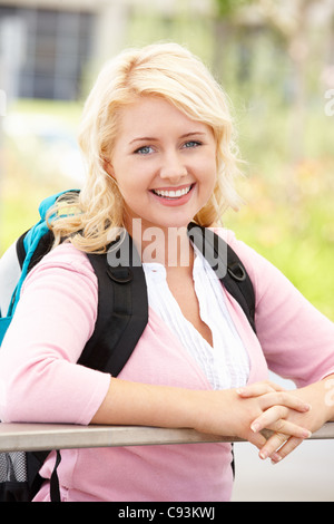 Portrait young woman outdoors - Stock Photo
