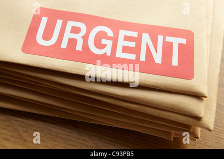 Urgent documents for despatch - Stock Photo