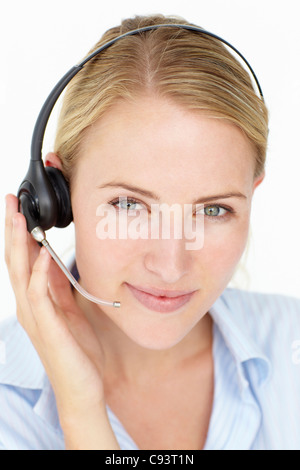 Call center operator - Stock Photo