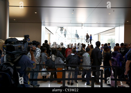 Launch of the Apple iPhone 4S at the companys flagship retail store in the International Finance Centre (IFC) Mall, - Stock Photo