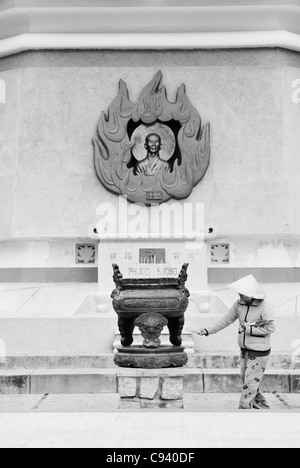 Asia, Vietnam, Nha Trang. Long Son Pagoda. Giant Buddha. - Stock Photo