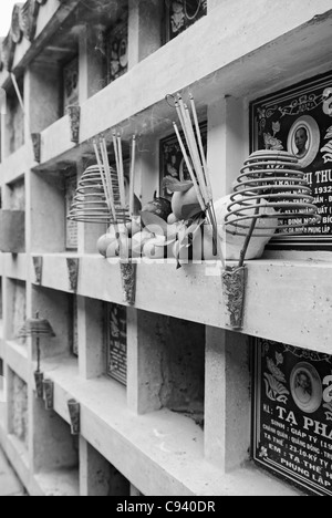 Asia, Vietnam, Nha Trang. Long Son Pagoda. Tombs. - Stock Photo