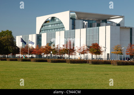 The German Chancellery in Berlin; Bundeskanzleramt in Berlin - Stock Photo