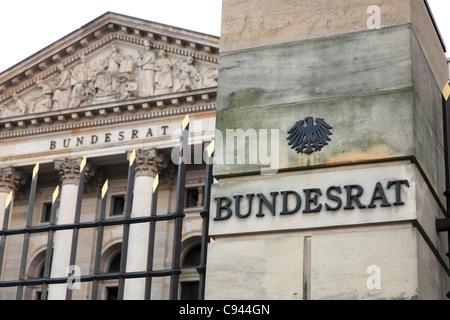 The Prussian House of Lords on Leipziger Straße seat of the German Bundesrat; Bundesrat der BR Deutschland - Stock Photo