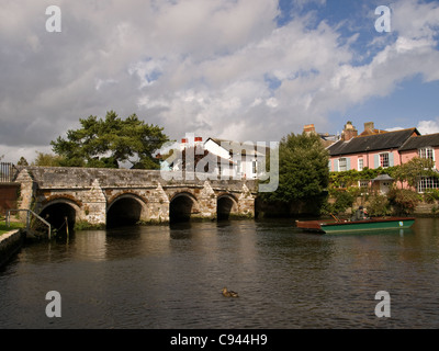 Bridge over the river Avon in Christchurch Dorset England UK - Stock Photo
